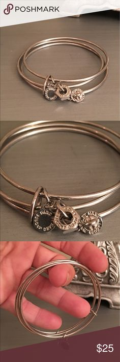 🛍 Marc by Marc Jacobs Silver 3 Charm Bangle Silver tone. Marc by Marc Jacobs Jewelry Bracelets