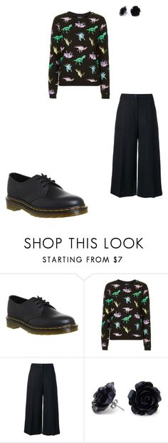 """""""Back in Black #11"""" by femalewarrior205 ❤ liked on Polyvore featuring Dr. Martens, Topshop and Kenzo"""