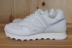 91bcd88d56e9 NEW BALANCE 574 ALL WHITE LEATHER RUNNING NEW SZ 7-11 M574WHL L