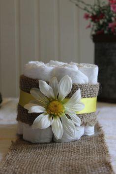 DIY Baby Shower Centerpieces - Diaper Cakes