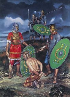 """""""Centurion and soldiers of an infantry cohort, 2nd century"""""""