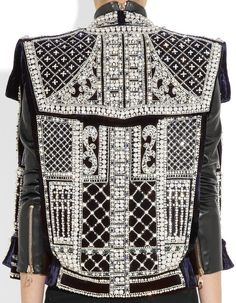 The Detail, The DETAILS! Ever in awe, I remain... Balmain embellished velvet, 2012 † #hautegoth #fashion #hautecouture #couture #embellished #ornate #opulent #womenswear #excessive #flamboyant #brilliant #beautiful #bling #velvetjacket #Balmain #2012