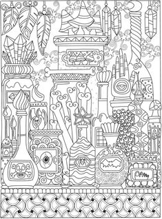 Willkommen bei Dover Publications – coloring p - Malvorlagen Mandala Witch Coloring Pages, Free Halloween Coloring Pages, Kids Printable Coloring Pages, Pumpkin Coloring Pages, Disney Coloring Pages, Christmas Coloring Pages, Free Coloring Pages, Coloring Books, Coloring Sheets