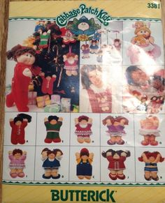 Butterick 3381 Cabbage Patch Kids 6 Inch Felt Ornaments Sewing Pattern | PatternGate - Craft Supplies on ArtFire