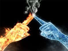 fire and ice? ok that I can see ice, not water still not relating to fairy tail Hahahaha Foto Fantasy, Fantasy Art, Eis Tattoo, Fire N Ice, Fire Vs Water, Twin Flame Love, Twin Flames, Flame Art, Twin Souls