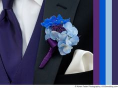 Royal Blue and Purple With a Soft, Delicate Blue for a Summer Color Scheme