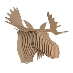Cardboard animal bust fred moose jr 2