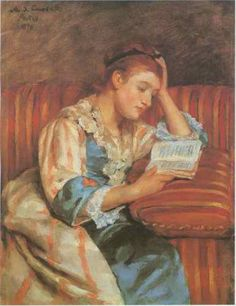 Seeking superior fine art prints of Mrs. Duffee Seated on a Striped Sofa Reading by Mary Cassatt? Mary Cassatt Art, Looks Black, Woman Reading, Oil Painting Reproductions, American, Female Art, Modern Art, Fine Art Prints, Illustration