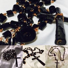 black coral jewelry Rosary men's fashion Beautiful genuine black coral rosary. Created by Mother Nature and carefully handcrafted 33.7g. Black coral has many spiritual properties and it's widely known for its protection against negative energies. AmphorasEyes Jewelry Necklaces