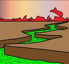 Learn how to draw a cool landscape in minutes.  My students love these quick and easy landscape drawing tutorials.