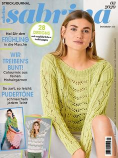 Knitting Magazine, Crochet Magazine, Knitting Books, Summer Tops, Handicraft, Bunt, Knitting Patterns, Knit Crochet, Diy And Crafts