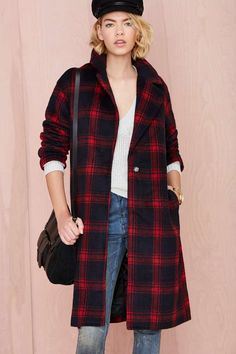 Plaid Intentions Coat | Shop Jackets + Coats at Nasty Gal