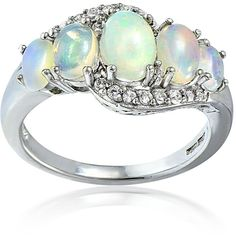 Glitzy Rocks Sterling Silver Ethiopian Opal and White Topaz Twist Ring (52 CAD) ❤ liked on Polyvore featuring men's fashion, men's jewelry, men's rings, white, mens opal rings, mens sterling silver rings, mens band rings, mens white gold rings and mens wide band rings