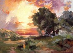Landscape-of-the-Masters,-Study-of-Thomas-Moran—web – original oil painting landscape by artist Christopher Clark
