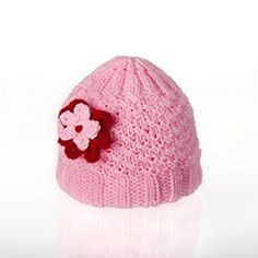 """Girl's hat by Maria Wolinski. 100% acrylic, very soft, fits age 3 and more, 7"""" wide and 8"""" long. Price: $15.00 On Artful Vision, a portion of your purchase is donated to a participating non-profit of your choice."""