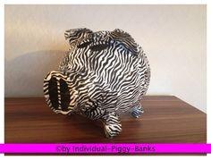Sparschwein XXL Zebra Look Geldgeschenk Briefbox Kartenbox Zebra