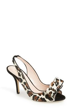 Fantastic! kate spade new york animal print slingbacks