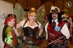 ECCC 2016 - Steampunk Peter Pan, Tinkerbell, and Captain Hook.  From: http://www.superherohype.com/news/370529-emerald-city-comicon-cosplay#/slide/15