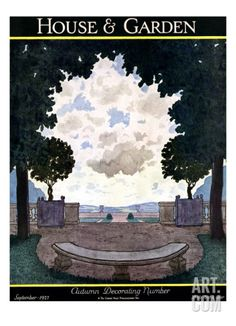 House & Garden Cover - September 1927 Regular Giclee Print by Pierre Brissaud at Art.com