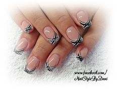 Black, white and silver - www.facebook.com/NailStyleByDani