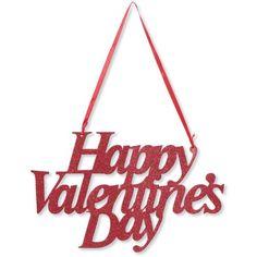 Valentine's Day Glitter Sign Creative Converting