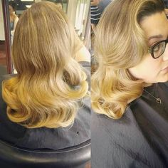 #hairbyveronicaroman #hairstyle #vintage #waves #downdo