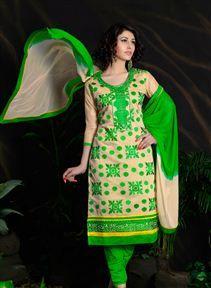 Stunning Cream Color #DesignerSalwar Suit