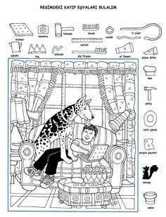 Hidden Picture Games, Hidden Picture Puzzles, Hidden Object Puzzles, Hidden Objects, Hidden Pictures Printables, Highlights Hidden Pictures, Coloring Books, Coloring Pages, Math Enrichment
