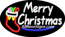 """Merry Christmas Flashing Neon Sign-ANSAR14355  Dimensions: 17""""H x 30""""L x 3""""D  Custom colors ship in 5-7 business days  110 volt flasher transformer  Cool, Quiet, and Energy Efficient  Hardware & chain are included  Comes standard with 6' power cord  Indoor use only  1 Year Warranty/electrical components  1 Year Warranty/standard transformers."""