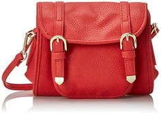 POVERTY FLATS by rian Softy Small Cross Body Bag Coral One Size *** Check out this great product.