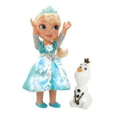 Bring a smile to your child with Disney's Frozen Snow Glow Elsa Doll and her friend, Olaf. Elsa says 15 phrases from Frozen with a simple touch of her necklace. Frozen Disney, My First Disney Princess, Princesa Disney Frozen, Frozen Snow, Elsa Frozen, Princess Anna, Film Frozen, Frozen Kids, Frozen Stuff