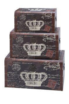 Royal Carte Postale Trunks - Set of 3