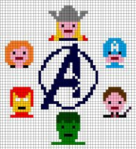 The Avengers cross stitch