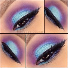 @Marina Zlochin L used our Take Me to Brazil palette to create this gorgeous purple/blue look.
