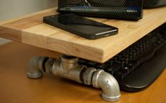 plumbing pipe monitor stand by InterraceDesign on Etsy https://www.etsy.com/uk/listing/266905122/plumbing-pipe-monitor-stand