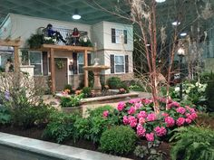 Superior Cleveland 2016 Home And Garden Show Just Started! Here Is A Spring Flower  Vineyard Wedding Garden With Water Features, Bar, Fireplace, Herb Garden U2026