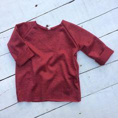 Heathered Ruby Raw Edge Sweatshirt // Baby by FranchiePantsApparel