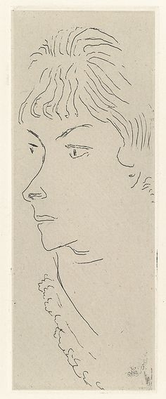 """Henri Matisse """"Fanny from Three-Quarters"""" 1914 Etching on chine colle"""