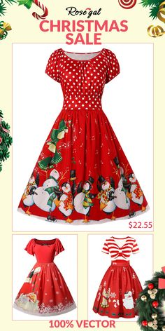 dc63112b504b7 Christmas Dress - Free Shipping, Discount And Cheap Sale. Plus Size Vintage  DressesVintage ...