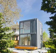 PATH Architecture designed a tiny rotating house in Portland. The home is manually rotated so it's optimized to be cooler in summer or warmer in winter.