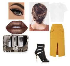 """""""Untitled #218"""" by jada-aphrodite ❤ liked on Polyvore featuring Prada, Topshop, Balmain and Lime Crime"""