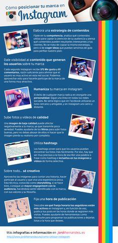 Cómo posicionar tu marca en #Instagram #Infografia