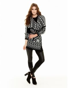 Geometric Knit Jacket #decjuba