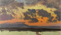 "loverofbeauty: ""Frederic Edwin Church: Sky at sunset, Jamaica, West Indies,1865 Cooper Hewitt, Smithsonian Design Museum """