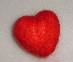 Styropor Herz filzen Nadelfilzen