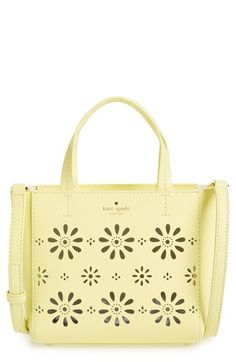 KATE SPADE NEW YORK 'Faye Drive - Small Hallie' Perforated Leather Crossbody…