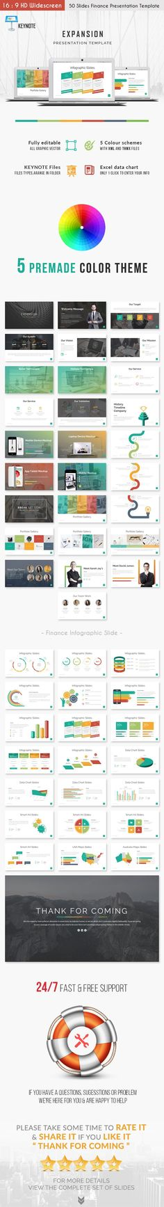 Buy Expansion - Finance Powerpoint Presentation Template by puricreative on GraphicRiver. Expansion is a finance Powerpoint Presentation Template. It is specially made for you: business analyst, market analy. Powerpoint Presentation Templates, Keynote Template, Fb Banner, Chart Infographic, Data Charts, Business Analyst, Financial Planner, Secret To Success, Color Themes