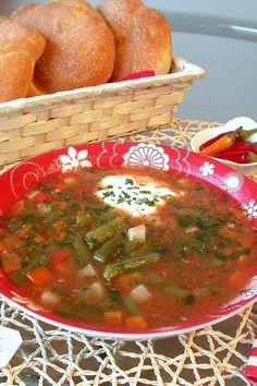 Ciorba ardeleneasca de fasole verde by stefanpizza Romanian Food, Salsa, Mexican, Lunch, Dinner, Healthy, Ethnic Recipes, Green, Rezepte