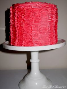 Ruffle cake for Christmas