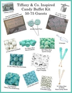 Tiffany & Co Candy Buffet Set  Complete Set  by BringOutTheBling, $300.00